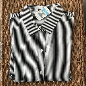 J. McLaughlin Striped Button Down with French Cuff